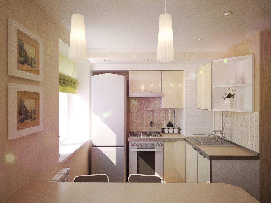 Как разместить холодильник в маленькой кухне?