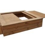Песочница с выдвижной крышкой-столиком