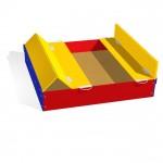 Цветная песочница с удобными ручками для выдвигания