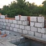 Стена из ячеистого бетона