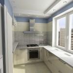 кухня на балконес видом на многоэтажку