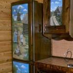 """""""деревянный""""холодильник"""