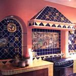 Вариант цветовой гаммы кухни в испанском стиле