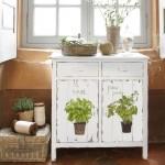 Декупаж устаревшей кухонной мебели