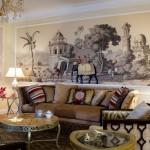 Фотопанно в гостиной в колониальном стиле