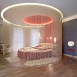 Необычный балдахин в спальне