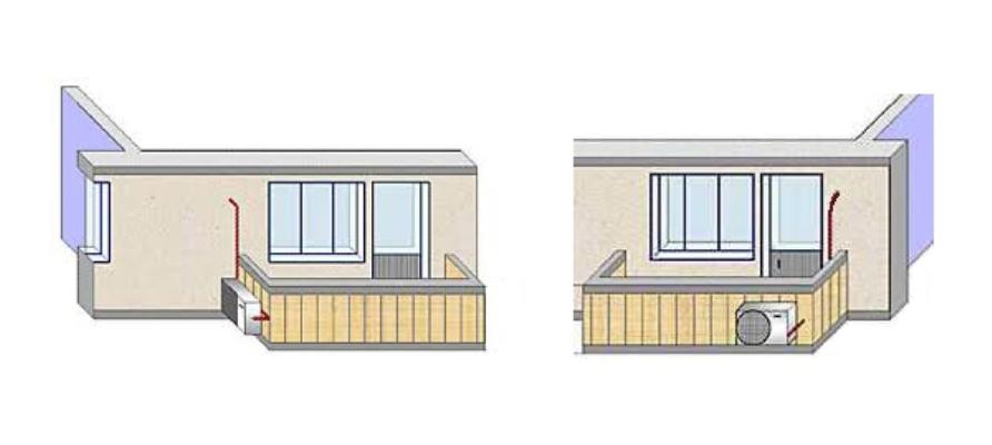 Можно ли установить кондиционер на балконе - микроклимат в к.