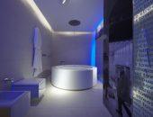 Современный и технологичный хай-тек в интерьере ванной