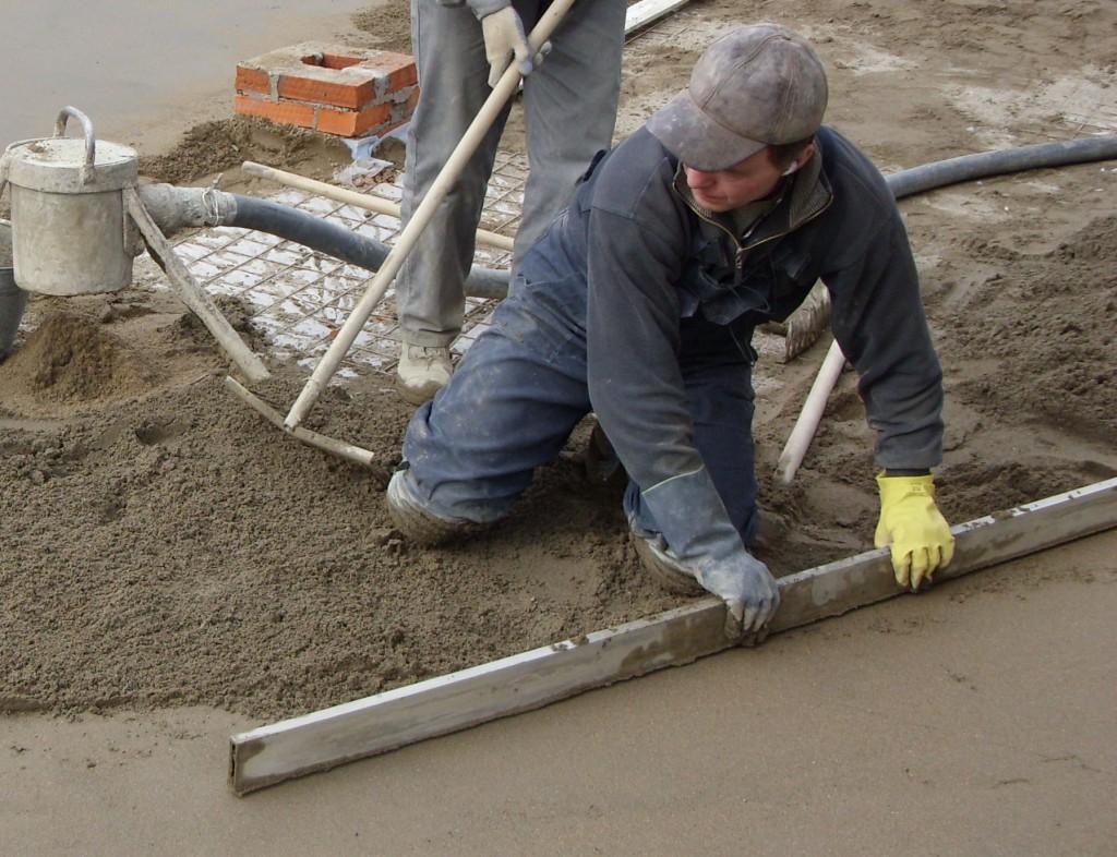 стоимость укладки бетонных полов