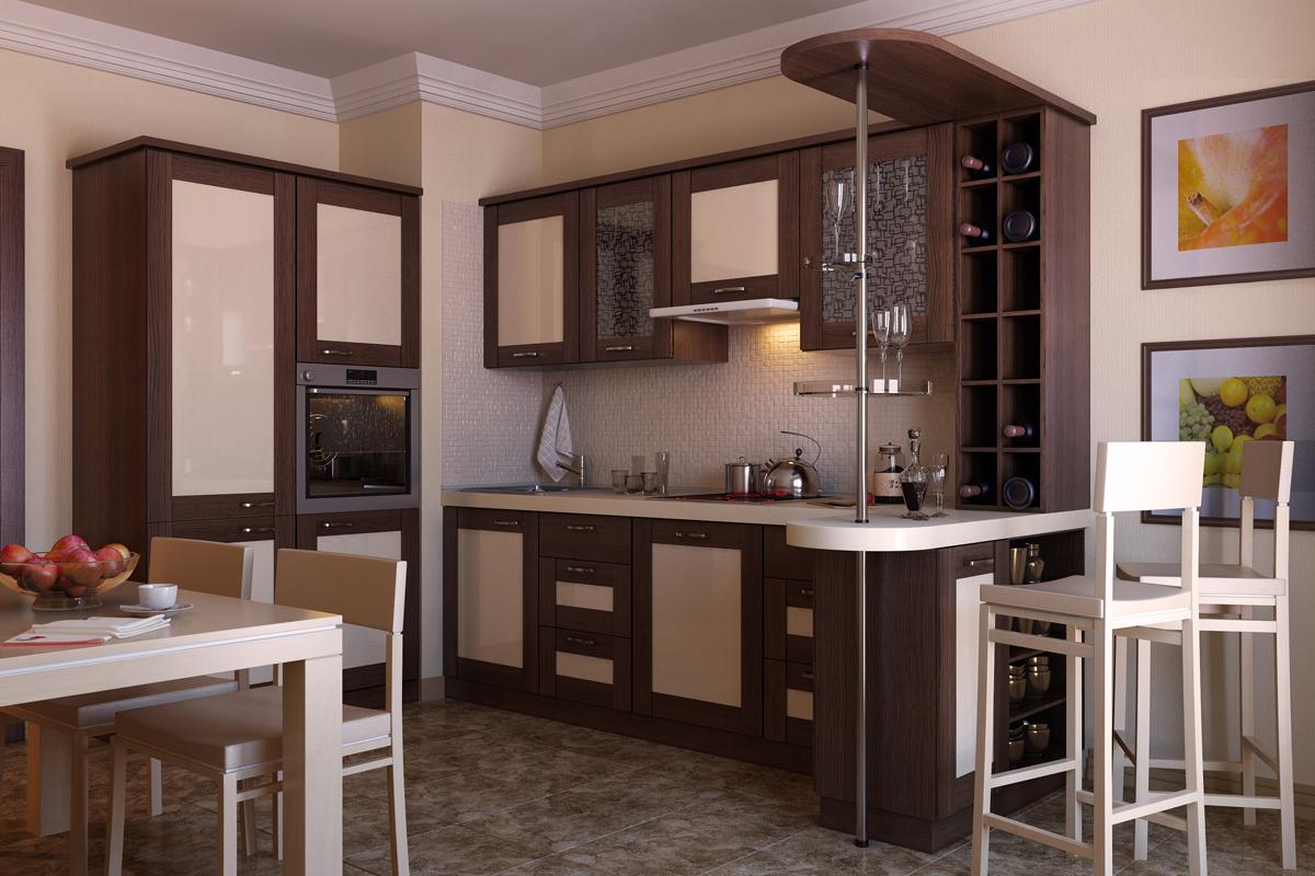 Барная стойка на кухне – красиво и современно