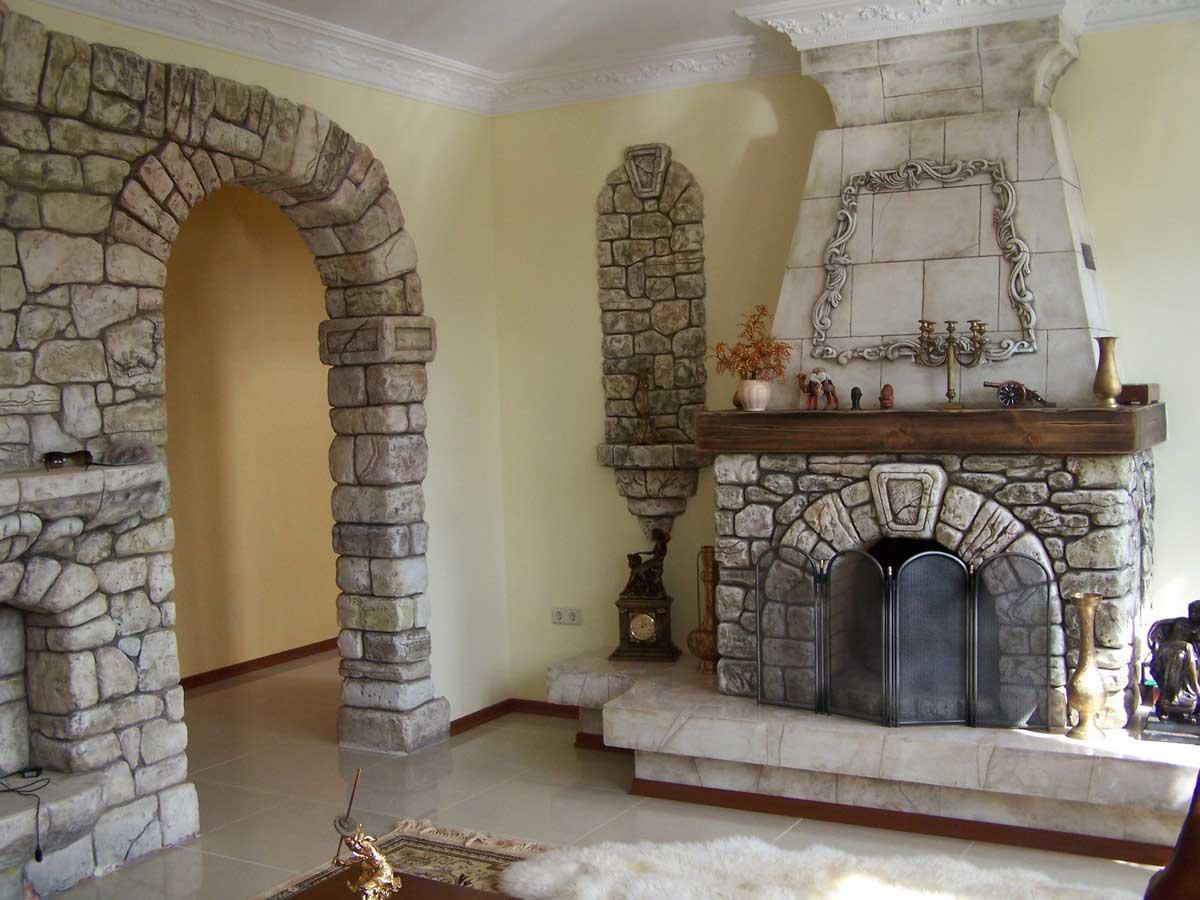 Отделка арок в квартире натуральным камнем