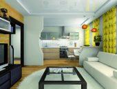 Как совместить кухню и спальню без проблем – современный дизайн своими руками