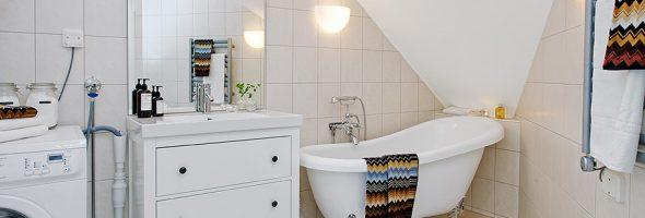 Ванная комната в шведском стиле