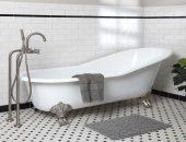 Ванная в классическом стиле: чёрная и белая плитка