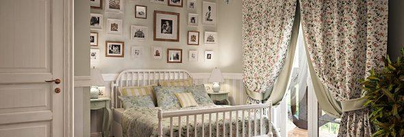Интерьер спальни в стиле Прованс на фото