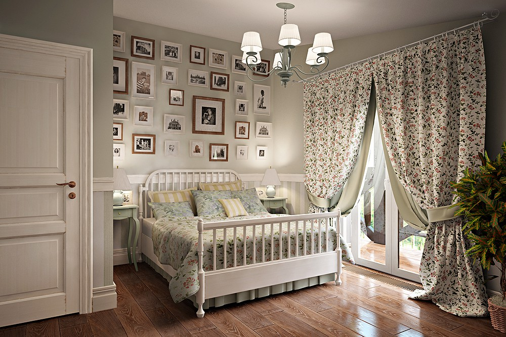 стиль прованс в интерьере дизайне спальни на фото оформление