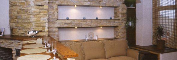 Искусственный камень в интерьере и отделке дома
