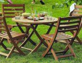 Деревянная мебель для сада: фото и способы чистки