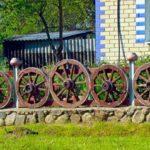 Оригинальная ограда для палисадника