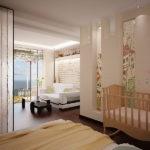 Стеклянная перегородка для разделения спальни и гостиной