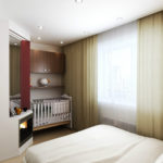 Спальня с нишей для детской кроватки