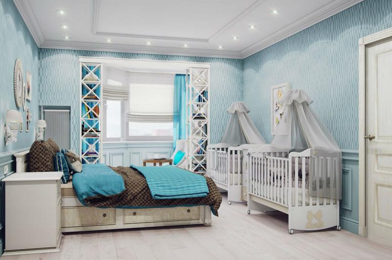 Совмещённая спальня и детская комната — секретобустройства уютного интерьера