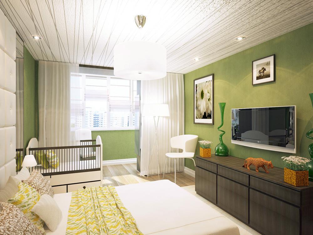 Спальня и детская в одной комнате - как разделить на две зон.