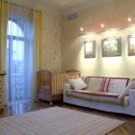 Спальня в стиле контемпорари с детской зоной