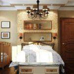 Кровать с выдвижными ящиками в совмещённой спальне