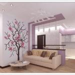 Узоры на стенах в гостиной