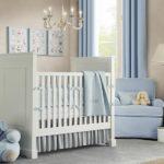 Бело-голубая комната для новорождённого