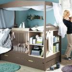 Маленькая детская комната для новорождённого мальчика