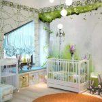 Детская комната в зелёном цвете