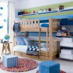 Детская комната в скандинавском стиле в синих тонах