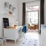 Детская комната в скандинавском стиле с дощатыми полами