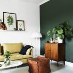 Скандинавский стиль с темно-зеленым цветом
