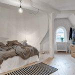 Спальня в скандинавском стиле освещение