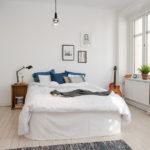 Спальня в белых тонах минимализм