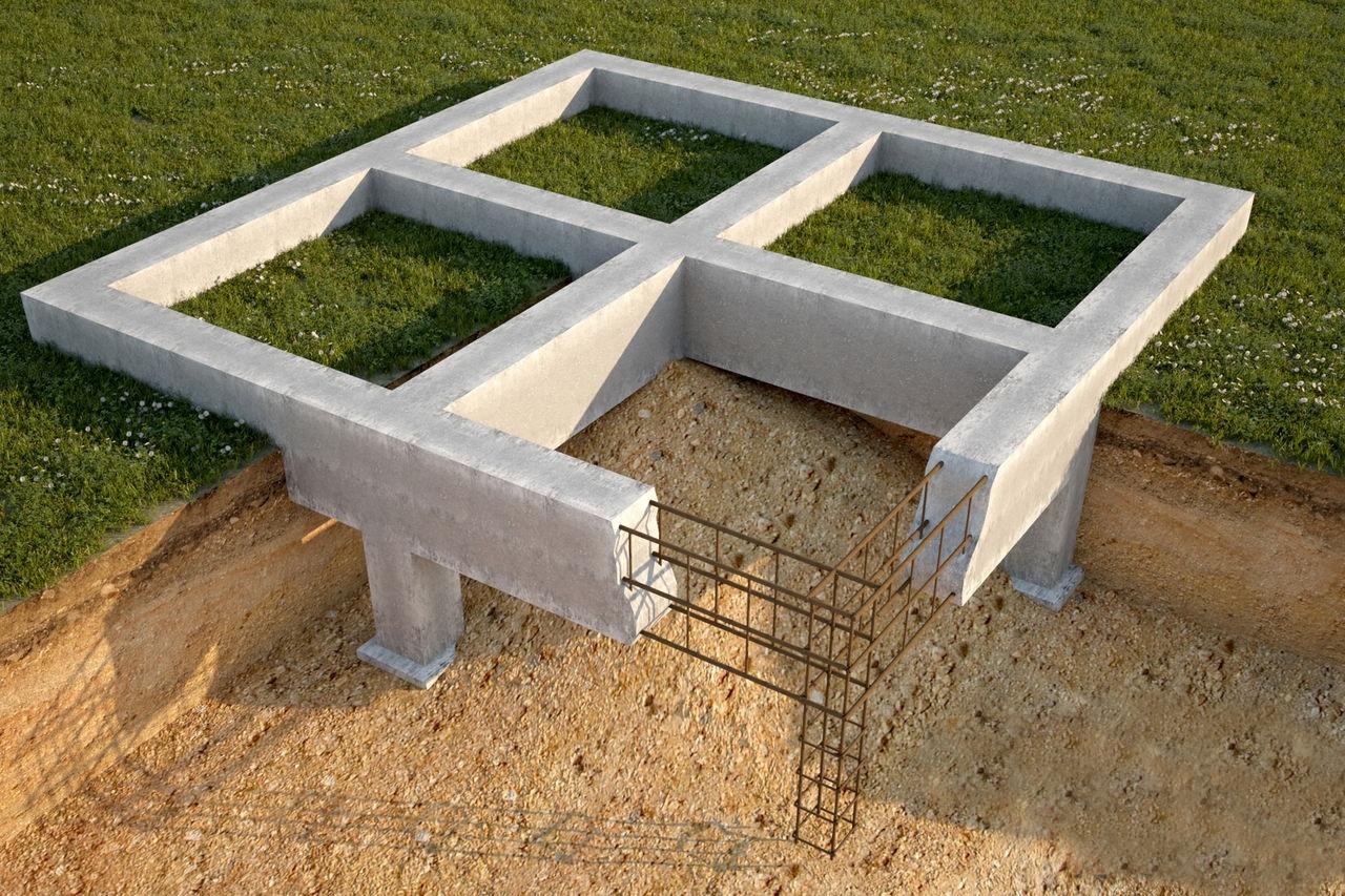 Расчёт нагрузки на фундамент дома, а также количества бетона и арматуры для его изготовления