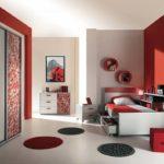 Комната с круглыми ковриками