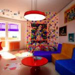 Гостиная зона комнаты поп-арт