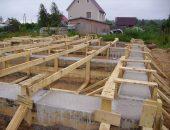фундамент для деревянного домап