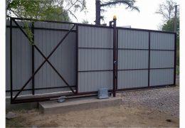 Фундамент для установки откатных ворот