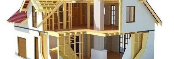 Каркасный дом на плитном фундаменте