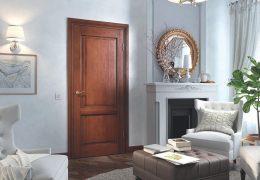 Дверь из массива дерева в интерьере