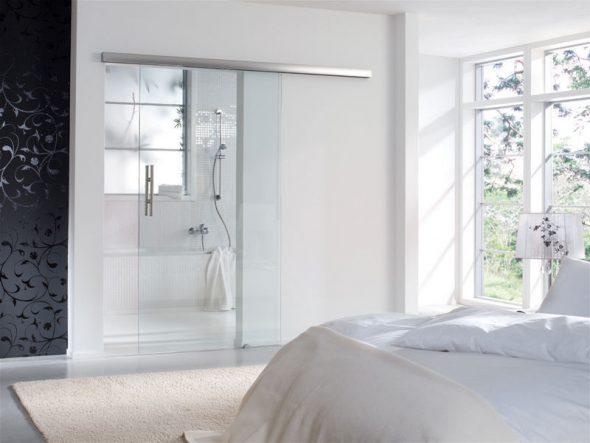 Дизайн со стеклом в ванной