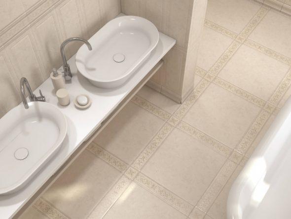 Дизайн ванной в белых тонах