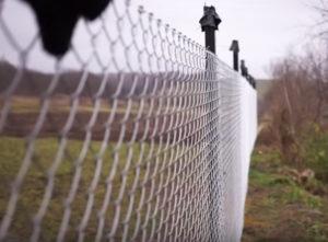 Красивый забор из сетки-рабицы