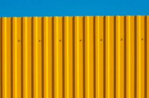 Забор из профнастила передний вид